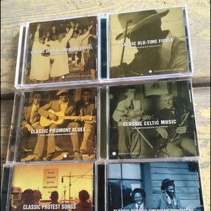 Lot of 6 Classic Folkways Cds! Great Music ! Wow